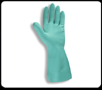 nitrile green glvoes