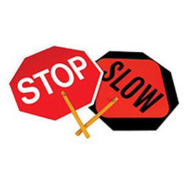 stop & slow paddle sign