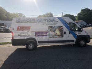 New exhaust cleaning service van